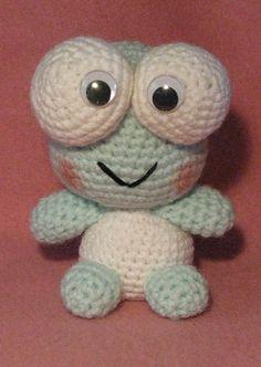 Armina's Ami-Nals: Keroppi Amigurumi (from Sanrio) Pokemon Crochet Pattern, Crochet Frog, Crochet Patterns Amigurumi, Cute Crochet, Crochet Toys, Crochet Things, Filet Crochet, Knitting Patterns, Yarn Animals