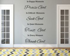 Thank God For What You Have Vinyl Wall Decal - Inspirational Decal - Christian Wall Decal - Bible Verse Wall Sticker - Trust God Decal Family Wall Decor, Frame Wall Decor, Mural Wall, Inspirational Wall Decals, Inspirational Verses, Christian Wall Decals, Removable Wall Decals, Cristiano, Wall Signs