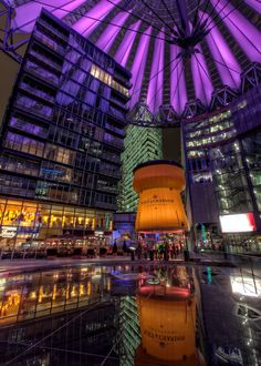 Champagne Bar in the Sony Center in Berlin, Germany. Bar was opened for the Berlinale Film Festival.