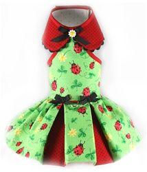 Ladybug Cloverleaf Dress - Shop By Designer - Toni Mari Posh Puppy Boutique Pet Shop, Dog Clothes Patterns, Designer Dog Clothes, Dog Crafts, Puppy Clothes, Dog Wear, Dog Dresses, Casual Dresses, Girl And Dog