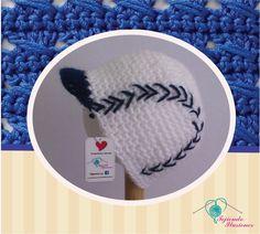 Modelo Nº55: Beisbol AZul, tejido a crochet bola de beisbol. #tejido  #crochet