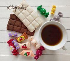 0 отметок «Нравится», 1 комментариев — Фетровкусности (@hobbykopilka) в Instagram: «Чашечка вкусного кофе с конфеткой,.. что ещё надо утром для полного счастья?  Сладости полностью…»