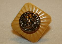 Vintage Lion Button Ring by vinestjewelry on Etsy, $9.00