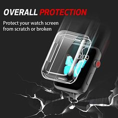 Smiling Apple Watch 4 Clear Case With Buit in TPU Screen Protector - All Around Protective Case High Definition Clear Ultra-Thin Cover Apple iwatch Series pack) Best Apple Watch, Apple Watch Bands 42mm, Apple Watch Series 3, Apple Watch Accessories, Screen Guard, Silicone Gel, Watch Case, Protective Cases, Screen Protector