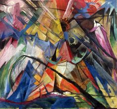 About the artist: Franz Marc (1880-1916) was a German expressionist painter, one of the key figures of the German Expressionism movement and a founding member of Der Blaue Reiter (The Blue Rider). Description from pinterest.com. I searched for this on bing.com/images