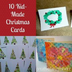 Some great, easy-to-make ideas for home-made Christmas cards.