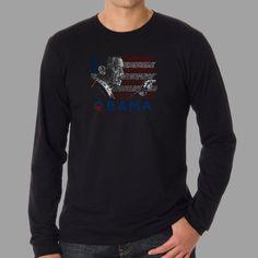 Los Angeles Pop Art Men's Barack Obama Long-sleeve Shirt