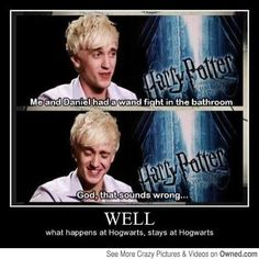 That is what happens behind the scenes of Harry Potter movies