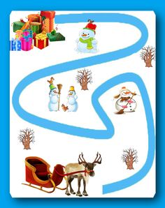 Новогодние развивающие задания. - Babyblog.ru Preschool Worksheets, Preschool Activities, Arabic Alphabet For Kids, Mazes For Kids, Autism Classroom, Pre Writing, Early Education, Play To Learn, Christmas Paper
