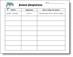 Animal Adaptations Chart freebie and Laura Candler science site Science Resources, Science Lessons, Science Education, Teaching Science, Science Activities, Science Experiments, Teaching Resources, Science Ideas, Teaching Ideas