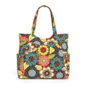 Pleated Tote in Flower Shower | Vera Bradley (I have this bag in this color and it's gorgeous.....carries a LOT! ...p.w.)