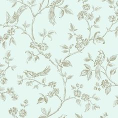 Fine Decor Birds from Live Laugh Love Collection Duck Egg / Gold (FD40291) - Wallpaper from I love wallpaper UK