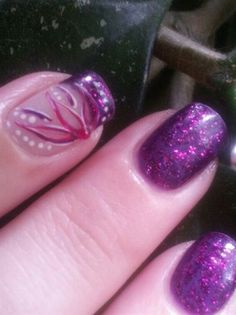 Purple Flower - Nail Art Gallery by NAILS