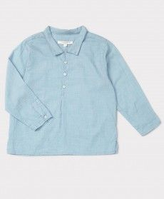 SS'16 Alkanet Shirt, Blue Grid, Caramel Baby & Child.