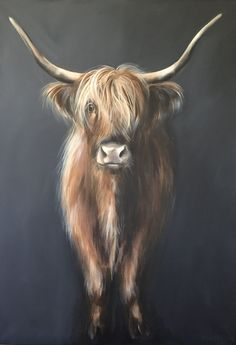 200 best images about Annabelle Highland Cow Art, Highland Cattle, Animal Paintings, Animal Drawings, Cow Painting, Farm Art, Illustration Art, Illustrations, Acrylic Art