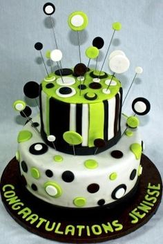 ... Cakes on Pinterest  Neon cakes, 16th birthday cakes and Green cake