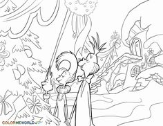 Grinch Whoville Coloring Pages Whoville Christmas