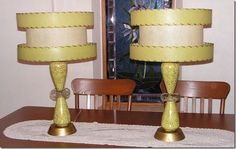 1950s Atomic Mid Century Table Lamps