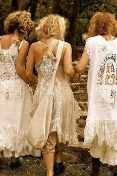 I love the backs of these dresses wish i knew what the front looked liked