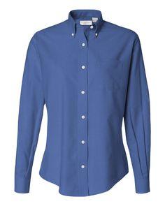 English Blue Ladies Oxford Shirt From Van Heusen - 13V0002