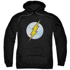 Flash Neon Distress Logo Adult Pull-Over Hoodie