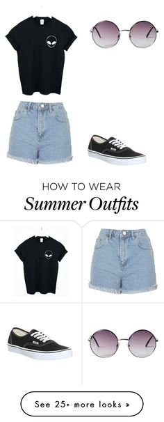 """""""Summer Outfit"""" by alliemarie14 on Polyvore featuring WithChic, Topshop, Vans…"""