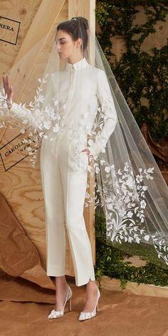 The newest Carolina Herrera wedding dresses have arrived! See what the latest Carolina Herrera bridal collection has to offer wedding dress shoppers. Spring 2017 Wedding Dresses, Wedding Dress Trends, Bridal Dresses, Spring Dresses, Wedding Ideas, Trendy Wedding, Womens Wedding Suits, Spring Wedding, Dress Wedding