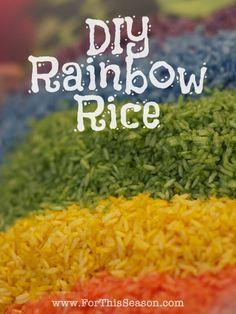 DIY Rainbow Rice - Quick, Easy Tutorial