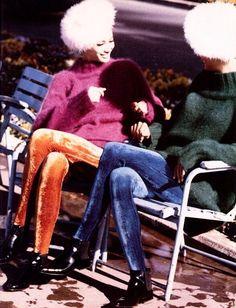 """""""Sisters"""" Christy Turlington & Linda Evangelista, photo by Ellen Von Unwerth, Vogue Italia, 1990"""