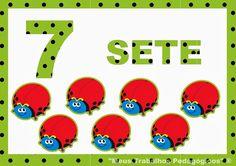 Números de 0 a 10 - Poá verde Estou inspirada!  Para decorar sala de aula e também se imprimir em tamanho menor dá para adaptar como jogo d...