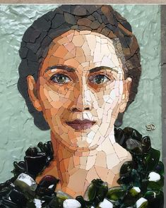 Mosaic Portrait, Portrait Art, Portraits, Mosaic Artwork, Beautiful Arabic Words, Mosaic Projects, Face Art, Mosaic Tiles, Crafts For Kids