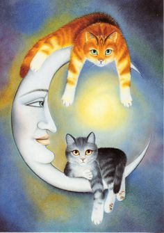 The way I see it, two cats sitting on the moon are better than one cow jumping over it any day!