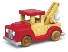 Children are sure to love our new tow truck with a working crank and tow hook! Build it from 3/4 inch pine. All patterns drawn FULL size.