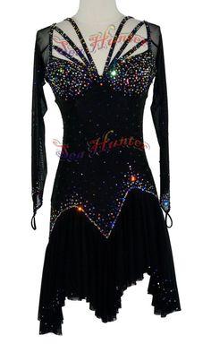 U4594 Ballroom women salsa rumba Latin chacha samba dance dress Custom made #seahunter
