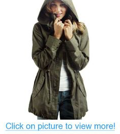 Imixcity Women's Zip Hoodie Drawstring Trench Jacket #Imixcity #Womens #Zip #Hoodie #Drawstring #Trench #Jacket