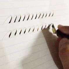 """""""Back to the Very Basics on Copperplate: COMPOUND CURVES (SERIES)"""