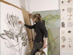 Sarah Graham at work in her studio.