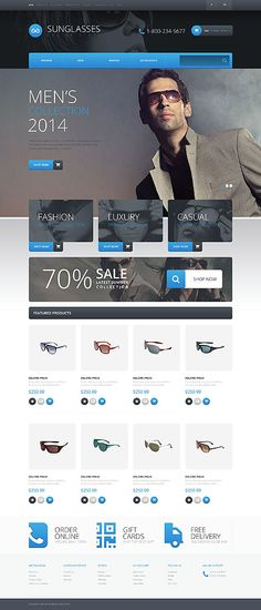 Sunglasses #OpenCart Template #51996 - Compatible: #html5 #css3 #php +5.2 - coding: #jquery via @medosadvert