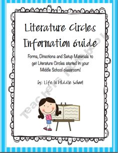 Literature Circles Start Up Guide...the science teacher in me is so not good at this stuff :(