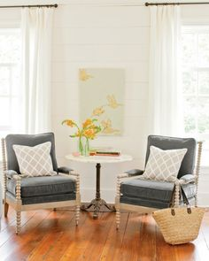 """Ceiling, wall and trim Paint Color: """"Pearly White (SW7009) by Sherwin-Williams."""