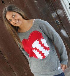Custom Made for You.  OOAK Off the Shoulder Baseball Sweatshirt