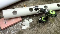 Como fazer um tubo vertical, plantador de morango