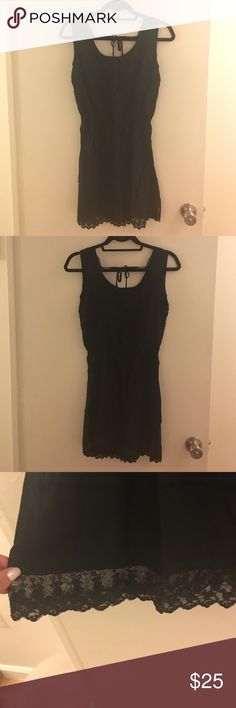 Brandy Melville open back lace trim dress Square open back with lace trim. Brandy Melville Dresses Mini