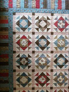 The piano key border is a perfect frame for this quilt.