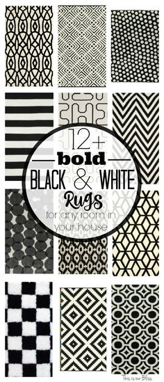 12 Bold Black and white geometric rugs for any room in your house Classic