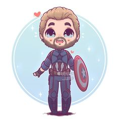 ✨✨ Captain America ✨✨ he's a bit of a cinnamon roll :3 Credit to @naomi_lord