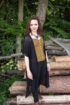DIY | Kimono aus Strickstoff selbst nähen | Schnittmuster gratis