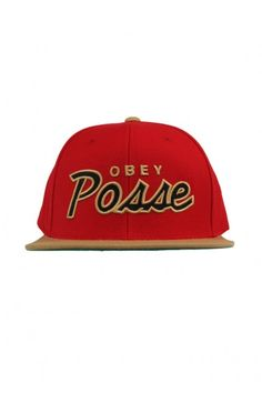 Obey Clothing Posse Snapback Hat - Red/Tan $28.00 #obey #posse