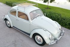 1963 Volkswagen Beetle:) Love this, from the luggage rack to the running boards!