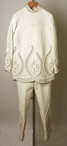 Pajamas, Valentino ca. 1968 cotton. Worn by the ever so fabulous Jayne Wrightsman.